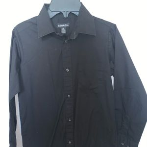 Black Long-sleeve Button Down